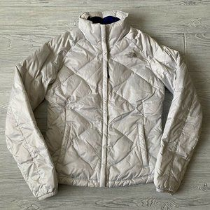The North Face 550 quilted down fill white puffer